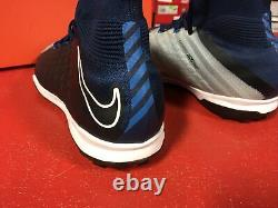 Nike Hypervenomx Proximo II DF Turf Shoes Brave Blue (8.5) New with Defect
