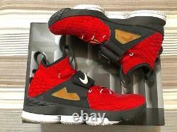 Nike LeBron 15 Red Diamond Turf Size 11 Shoes (Red White Black AO9144-600)
