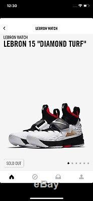 Nike LeBron 15 XV Diamond Turf Deion Sanders Mens Sz 12