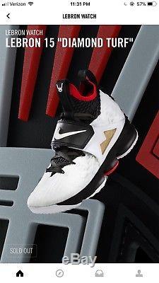 Nike LeBron 15 XV Diamond Turf Deion Sanders Mens Sz 12 Order Confirmed