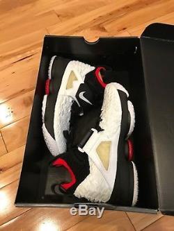 Nike LeBron 15 XV Prime Diamond Turf White Black AO9144-100 Men's Size 8