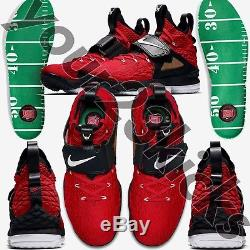 Nike Lebron 15 Red Diamond Turf QS Men's 9.5 LebronWatch LB15 LB LBJ