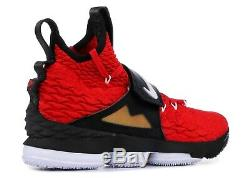 Nike Lebron 15 XV Prime Diamond Turf Deon Sanders Red AO9144 600 Mens Sz 8.5