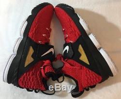Nike Lebron 15 XV Prime Red Diamond Turf DS AO9144-600 Men's Size 8.5