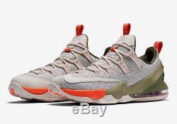 Nike Lebron XIII Low LMTD Mens Uk 14 Phantom Neutral Olive Turf Orange G17