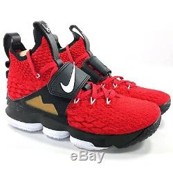 Nike Lebron XV 15 Prime Diamond Turf Deion Red White Black AO9144-600 Men's 10