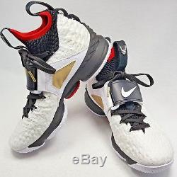 newest 2c9a5 2fade Nike Lebron XV 15 Prime Diamond Turf Deion Sanders White Blk ...