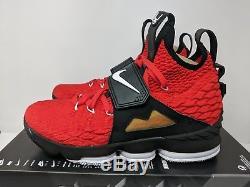 Nike Lebron XV 15 Prime Diamond Turf Red Lbj 23 (ao9144-600) Men Size 9 New