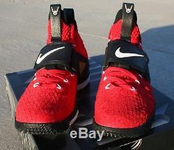 Nike Lebron XV 15 Red Diamond Turf Prime Lebron Watch Mens Size 9.5 AO9144-600