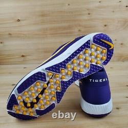Nike Lsu Tigers Alpha Huarache Elite 2 Turf Shoes Cu0149-501 Men's Sz. 12