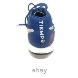 Nike Lunar Legend 7 Pro 10R Ronaldinho Turf Indoor Soccer Shoes Blue Mens 7.5