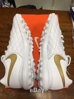 Nike Lunar Legend 7 Pro 10R TF Men's Turf Shoe AQ2212 Wht/Gold Size8.5Ronaldinho
