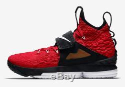 Nike MEN'S Lebron XV Prime LEBRON WATCH DIAMOND TURF SIZE 12 BRAND NEW BRED RED