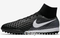 Nike MagistaX Onda II DF TF Men's Turf Football Soccer Shoes Black/White 1707