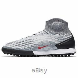 Nike MagistaX Proximo II TF 843958-060 Grey/Black/Red Men's Turf Soccer Shoes