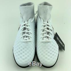 Nike Magista Obra II Size 7.5 Mens DF TF White Indoor Turf Soccer Shoes Sneakers