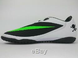 Nike Men Rare Hypervenom Phelon Turf 599846 031 White Black Soccer Shoes Boots