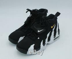 Nike Men Sz 9 Deion Sanders Air DT Max'96 Diamond Turf Shoe Black/White Sneaker