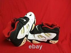 Nike Men US 13 Air Diamond Turf 2 Black/White/Metallic Gold Sneaker Shoe