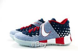 Nike Men's Size 10.5 Blue Denim Force Zoom Trout 6 Turf Premium Shoe AT3881-400