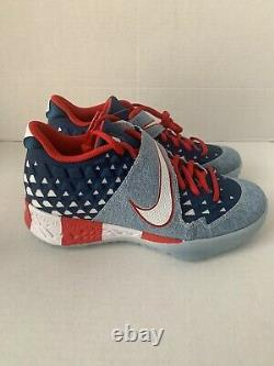 Nike Men's Size 6 Force Zoom Trout 6 Turf PRM USA Flag Shoes AT3881-400