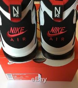 on sale 8f478 47bd8 Nike Mens Air Diamond Turf 309434 105 Black White Red Lebron ...