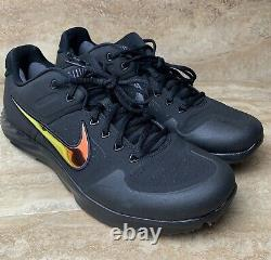 Nike Mens Alpha Huarache Elite 2 Black Turf Trainer Shoes