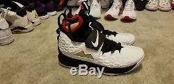 Nike Mens Lebron 15 XV Prime Diamond Turf Deion Sanders White AO9144 100 Sz 10