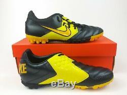 Nike Mens Rare Nike5 BOMBA PRO Turf 415119-077 Black Yellow Soccer Shoes