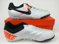 Nike Mens Rare Nike5 Bomba Turf 415130-108 White Orange Soccer Shoes Size 8.5