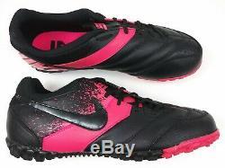 Nike Mens Rare Nike5 Bomba Turf Soccer Shoes 415130-007 Black Pink Vintage