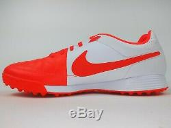 Nike Mens Rare Tiempo Genio Leather Turf Soccer Shoes 631284-810 Orange White