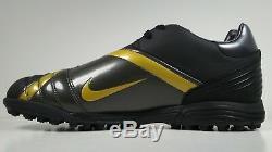 Nike Mens Rare Total 90 Shift Turf Black Gold 313845-071 Vintage Soccer Shoes
