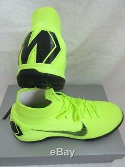 Nike Mens Superfly 6 Elite TF Soccer Shoes Volt Green Black Size 9.5 AH7374 701