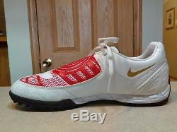 Nike Mens Total 90 Shoes Soccer Cleats Shoot II 2 Extra Turf 354753 White Red 11