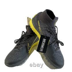 Nike Mercurial Superfly 6 Elite TF Turf Soccer ShoesGray AH7374-070 Size 9