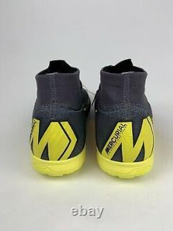 Nike Mercurial Superfly 6 Elite TF Turf Soccer Shoes AH7374-070 Grey Mens Size 9