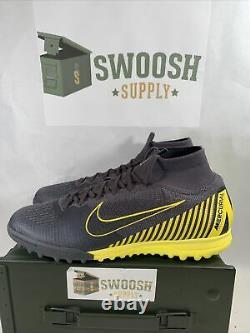 Nike Mercurial Superfly 6 Elite TF Turf Soccer Shoes Grey AH7374-070 Size 11.5