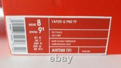 Nike Mercurial Vapor 12 Academy TF AH7384-701 Soccer Turf Shoes SIZE 8Mens Volt
