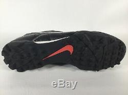 Nike Mercurial Vapor R9 Indoor Turf Soccer Black White Red Mens Size 9.5 Rare
