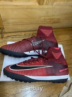 Nike Mercurial X Proximo II TF 2017 FlyKnit Turf Soccer Shoes Red Black 10 US