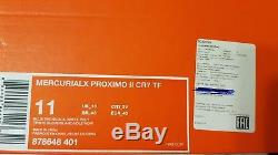 Nike Mercurial X Proximo II TF CR7 Blue Silver Indoor Turf 878648 401 Size 11