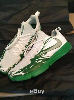 Nike OREGON DUCKS Team Issued Player Exclusive Vapor Speed Turf Shoes Sz 14 LE