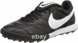 Nike Premier II TF Turf Soccer Shoes Men's Size 8.5 Black White
