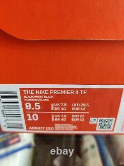 Nike Premier II Turf Soccer Shoes US 8.5 Black Kangaroo Leather