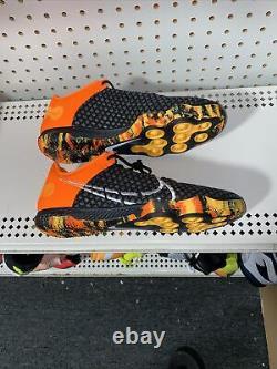 Nike React Gato Mens Indoor Soccer Turf Shoes Size 9.5 Black Orange Camouflage