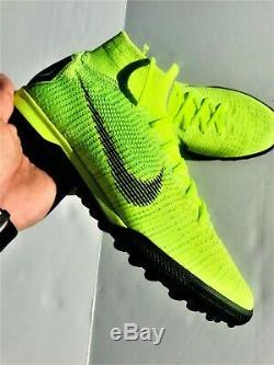 Nike SuperflyX 6 Elite TF Turf Soccer Shoes AH7374-701 Volt Black Men's Size 9