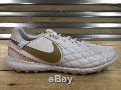 Nike Tiempo Lunar LegendX 7 Pro 10R Turf Shoes Ronaldinho Gold SZ (AQ2212-171)