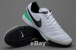 Nike Tiempo Mystic V TF Men's Turf Soccer Football Shoes White/Green/Black 1704