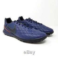 Nike Tiempo X Finale 10R TF Turf Soccer Navy Ronaldinho AQ3822 440 Limited Ed